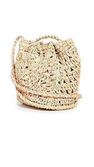 Resort Wear Finds Under $100: Woven Pouch Handbag | Rhyme & Reason