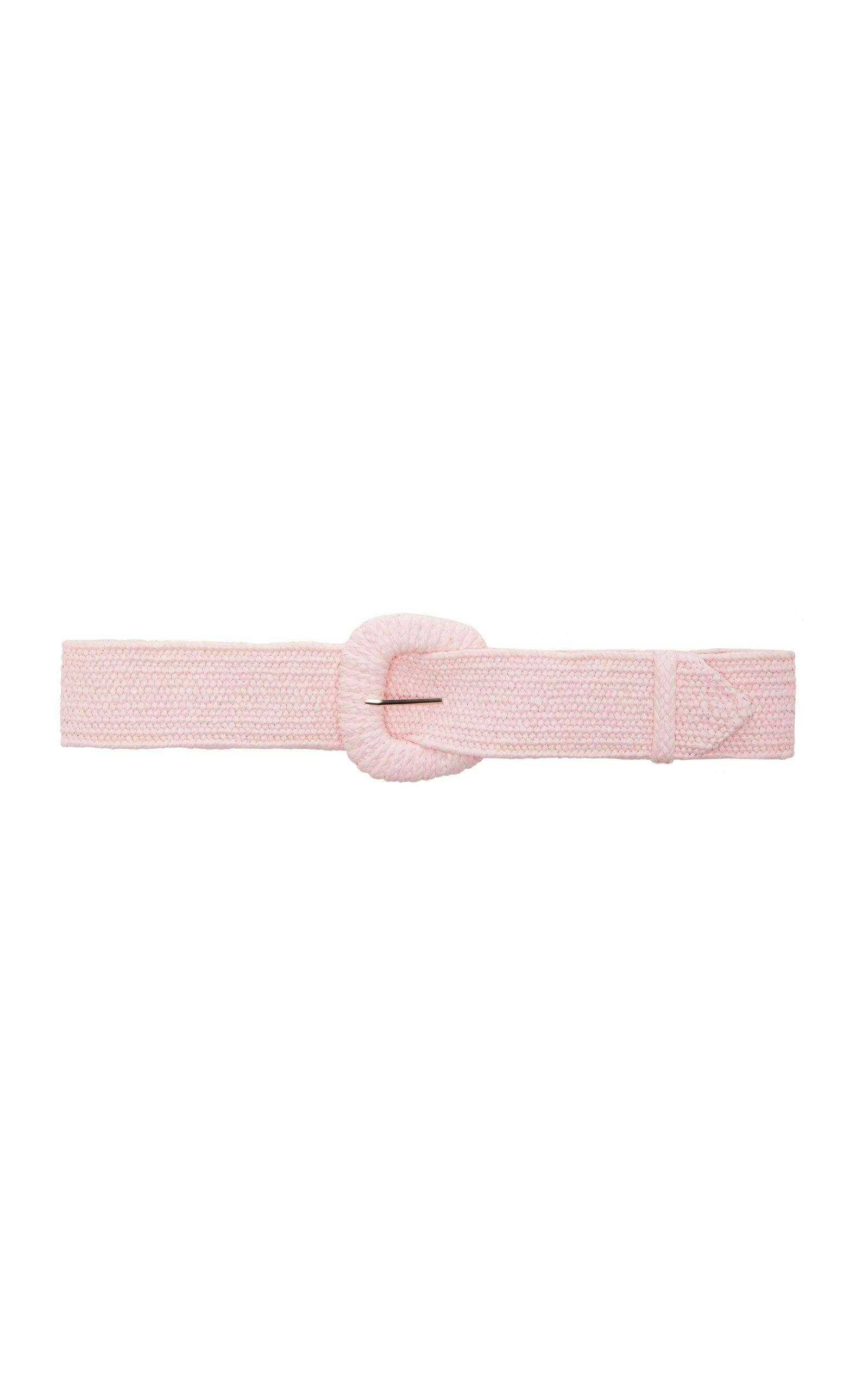 Resort Wear Finds Under $100: Pink Raffia Belt | Rhyme & Reason